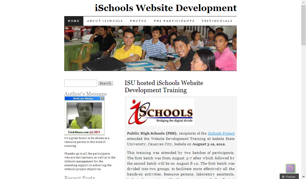 iSchools Website Dev't