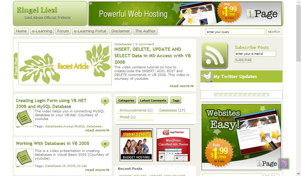 Liezl Salatan-Abuzo's Website