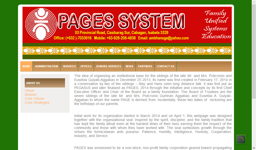 PAGES System