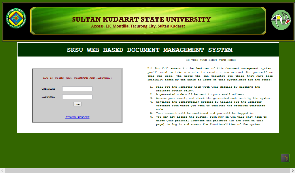 SKSU Doc Mgt System