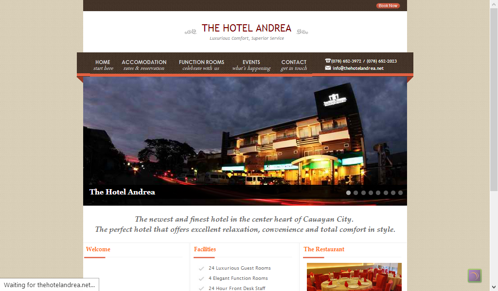 Hotel Andrea Website