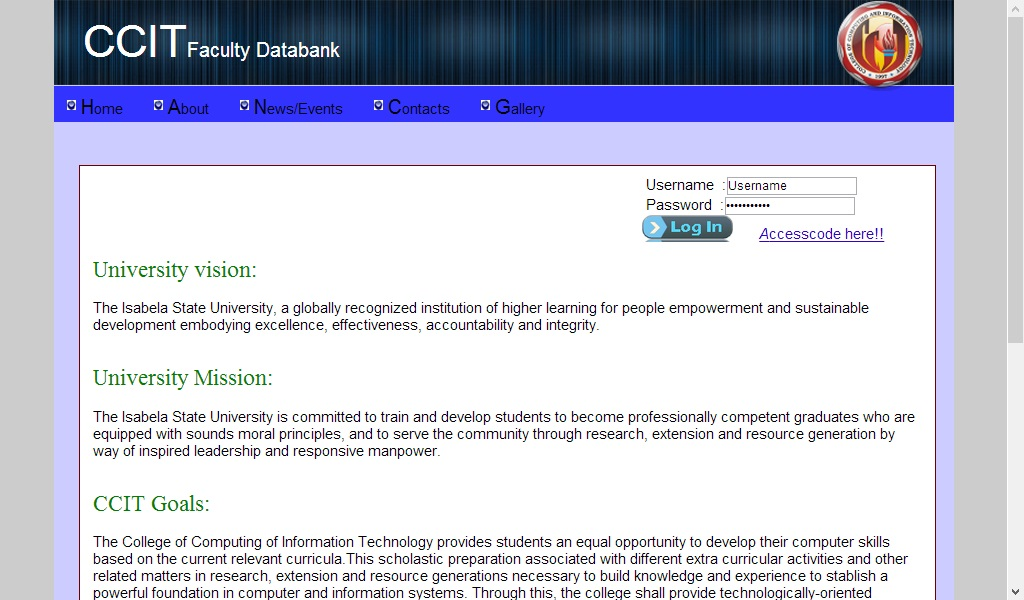 CCIT Faculty Databank