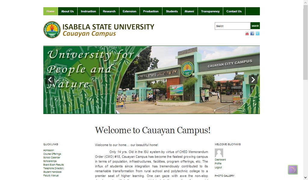 ISU Cauayan Website