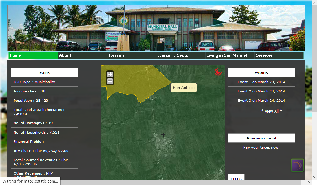 San Manuel Isabela's Website