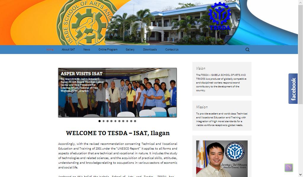 TESDA ISAT Website