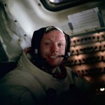 Neil Armstrong onboard Apollo 11's return to Earth by NASA